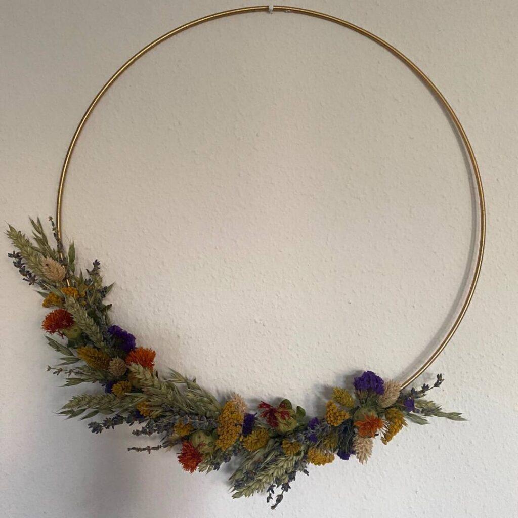 Boho-Kranz aus Trockenblumen - Muster