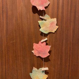 Herbstdeko mit Kaffefilter